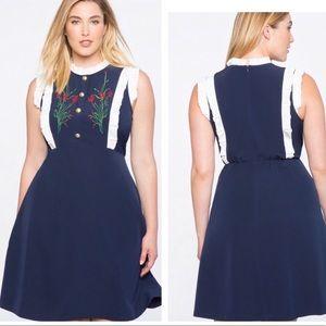 Eloquii Navy/Floral Dress